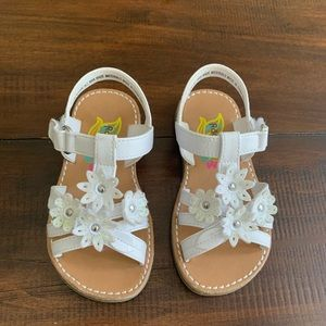 White Flower Toddler Sandals
